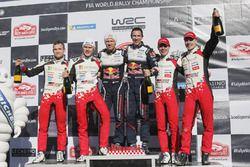 Podio: i vincitori Sébastien Ogier, Julien Ingrassia, M-Sport Ford, al secondo posto Ott Tanak, Martin Järveoja, Toyota Gazoo Racing, al terzo posto, Jari-Matti Latvala, Miikka Anttila, Toyota Gazoo Racing