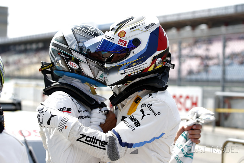 Gary Paffett Mercedes-AMG Team HWA and Marco Wittmann, BMW Team RMG