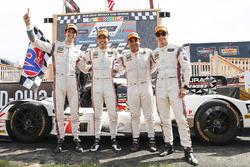 Race winners Helio Castroneves, Ricky Taylor, Acura Team Penske, second place Dane Cameron, Juan Pablo Montoya, Acura Team Penske
