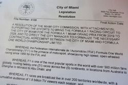 Dokument für geplanten Formel-1-Grand-Prix in Miami
