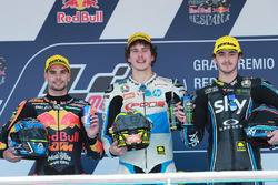 Miguel Oliveira, Red Bull KTM Ajo Lorenzo Baldassarri, Pons HP40 Francesco Bagnaia, Sky Racing Team VR46