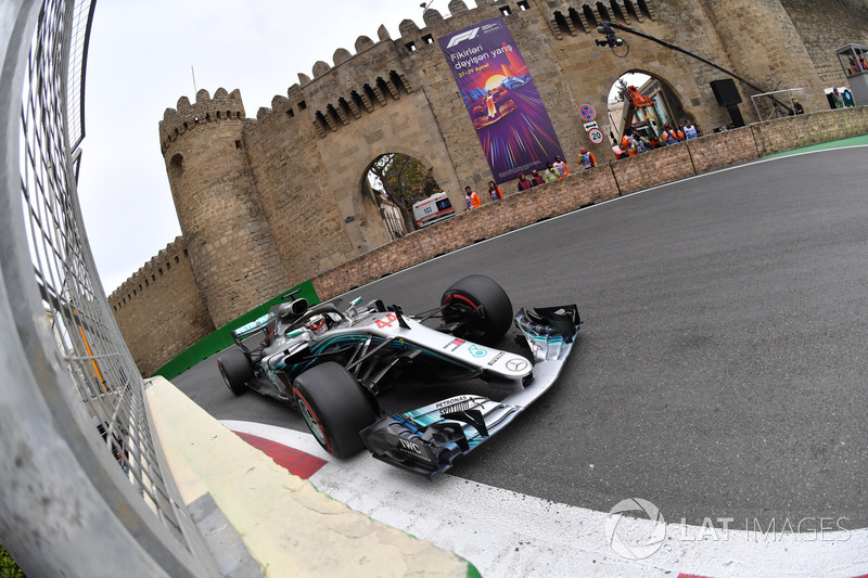 Lewis Hamilton, Mercedes W09, GP do Azerbaijão de 2018