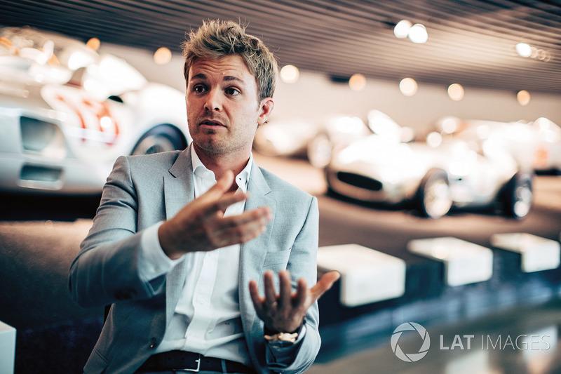 Nico Rosberg en el Museo de Mercedes