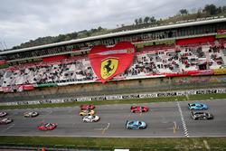 Start action Ferrari 458 World final