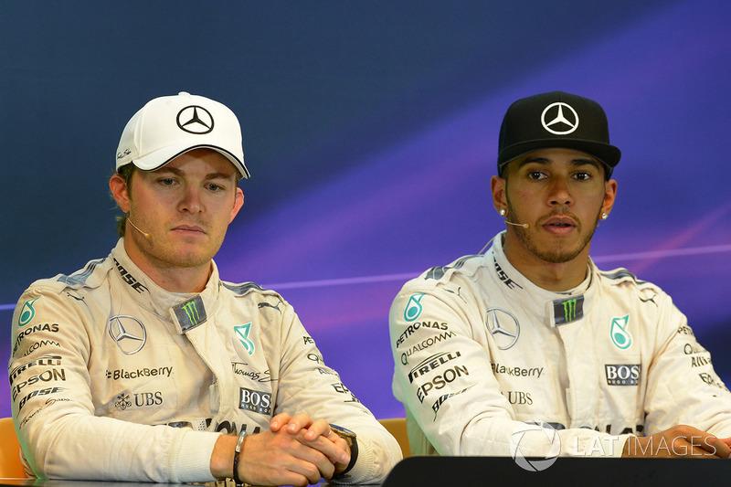 Пресс-конференция: гонщики Mercedes AMG F1 Льюис Хэмилтон и Нико Росберг
