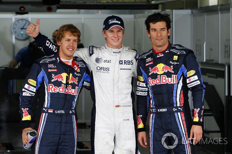 7. Brasilien 2010, Nico Hülkenberg vor Sebastian Vettel - 1,049 Sekunden