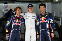 Polesitter Nico Hulkenberg, Williams FW32 Cosworth, Sebastian Vettel, Red Bull Racing, Mark Webber,