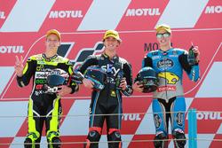Podium: second place Fabio Quartararo, Speed Up Racing, Race winner Francesco Bagnaia, Sky Racing Team VR46, third place Alex Marquez, Marc VDS