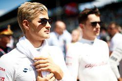 Marcus Ericsson, Sauber, et Charles Leclerc, Sauber