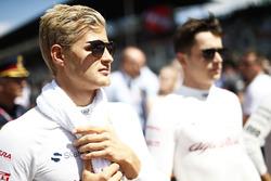 Marcus Ericsson, Sauber, en Charles Leclerc, Sauber