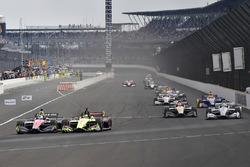 Robert Wickens, Schmidt Peterson Motorsports Honda, Sébastien Bourdais, Dale Coyne Racing with Vasser-Sullivan Honda
