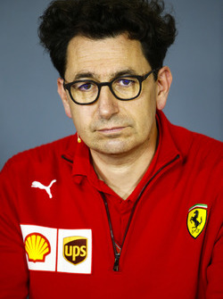 Mattia Binotto, Chief Technical Officer Ferrari, nella conferenza stampa dei team principal