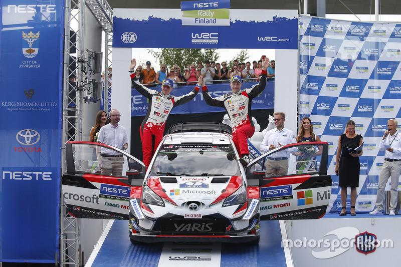 Al terzo posto Jari-Matti Latvala, Miikka Anttila, Toyota Yaris WRC, Toyota Gazoo Racing