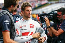 Romain Grosjean, Haas F1 Team, on the grid