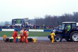 Michael Schumacher, Benetton Ford B193B, spint uit de race