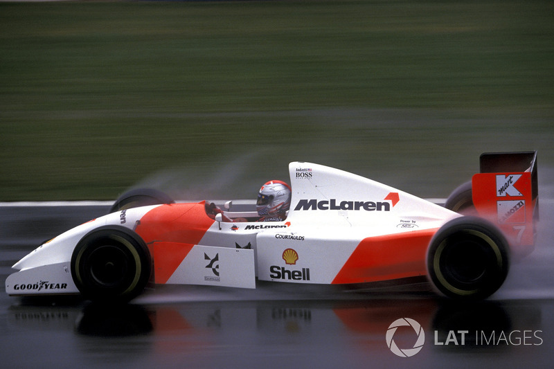 Майкл Андретти, McLaren MP4/8: авария на седьмом круге