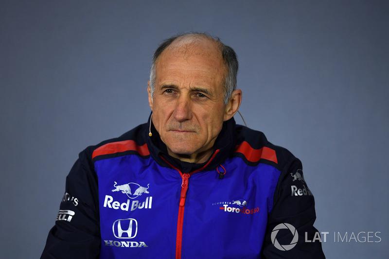 Franz Tost, director de Toro Rosso, en la rueda de prensa de la FIA