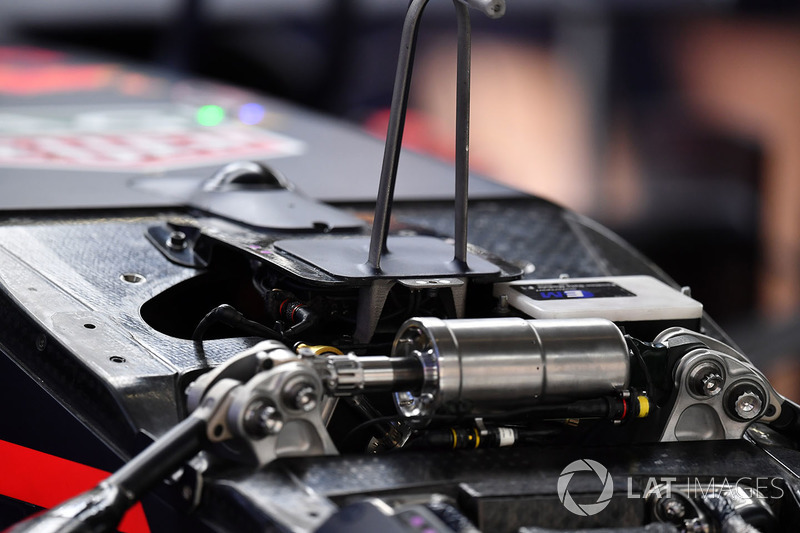 Suspensión delantera del Red Bull Racing RB14