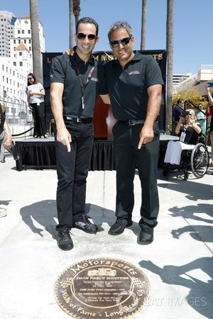 Long Beach Walk of Fame inductees Helio Castroneves and Juan Pablo Montoya