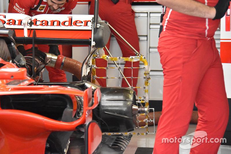 Ferrari SF70H с дополнительными датчиками