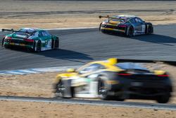#11 Audi Sport Team WRT Audi R8 LMS: Stuart Leonard, Jake Dennis, Robin Frijns, #29 Land-Motorsport