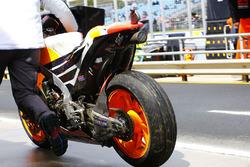 Bike von Marc Marquez, Repsol Honda Team, nach Sturz