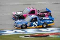 Chase Briscoe, Brad Keselowski Racing Ford, John Hunter Nemechek, SWM-NEMCO Motorsports Chevrolet