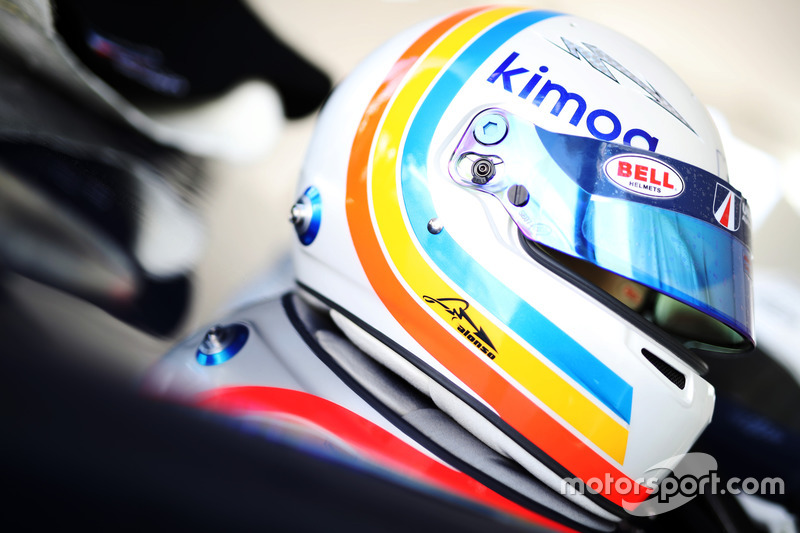 Helmet of Fernando Alonso, United Autosports
