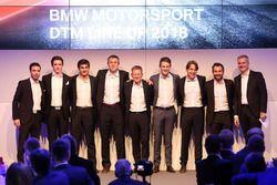 Line-up 2018, Philipp Eng, Joel Eriksson,, Bruno Spengler, Bart Mampaey, Stefan Reinhold, Team Principal BMW Team RMG, Maro Wittmann, Augusto Farfus, Timo Glock, Jens Marquardt, BMW Motorsport Director