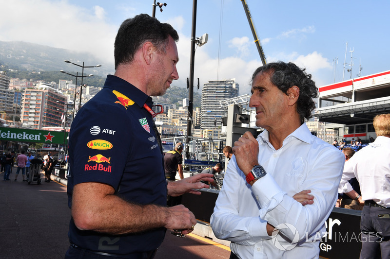 Christian Horner, Red Bull Racing Team Principal and Alain Prost, Renault Sport F1 Team Special Advisor