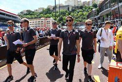 Romain Grosjean, Haas F1 walks the track
