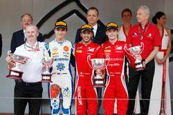 Podium : le vainqueur Antonio Fuoco, Charouz Racing System, le deuxième Lando Norris, Carlin, le troisième Louis Deletraz, Charouz Racing System