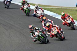 Jonathan Rea, Kawasaki Racing Team, Chaz Davies, Aruba.it Racing - Ducati Team, Michael van der Mark
