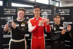 Winner Guan Yu Zhou, second place Brendon Leitch, third place Pedro Piquet