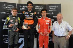 Podium: winner Jehan Daruvala, second place Lando Norris, third place Guan Yu Zhou