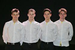 Louis Deletraz, Kevin Joerg, Jack Aitken, Oliver Rowland, Pilotos de la Renault Sport Academy