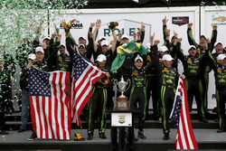 Overall Podium: Winner #2 ESM Racing Honda HPD Ligier JS P2: Scott Sharp, Ed Brown, Johannes van Ove