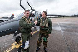 Christophe Tinseau mit den Franz. Luftwaffenpilot