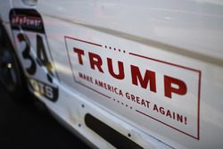 A Donald Trump campaign sign on an entry