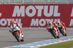 Michael van der Mark, Honda WSBK Team, Chaz Davies, Aruba.it Racing - Ducati Team et Davide Giuglian