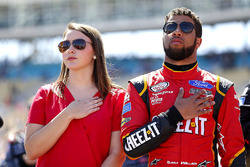 Darrell Wallace Jr., Roush Fenway Racing Ford with his girlfriend