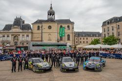 #93 Proton Competition Porsche 911 RSR: Patrick Long, Abdulaziz Al Faisal, Mike Hedlund, #88 Proton