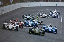 Charlie Kimball, Chip Ganassi Racing Honda, Tristan Vautier, Dale Coyne Racing Honda
