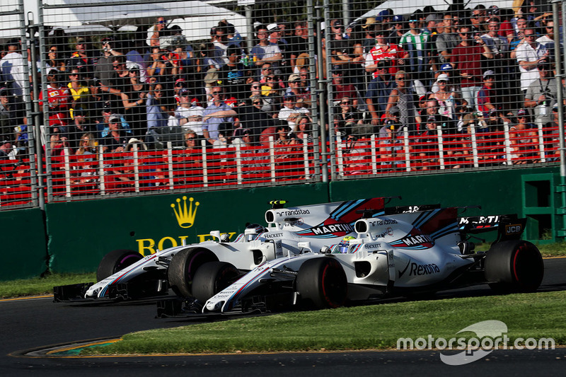 Felipe Massa, Williams FW40; Lance Stroll, Williams FW40