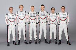 Timo Bernhard, Brendon Hartley, Earl Bamber, André Lotterer, Neel Jani, Nick Tandy, Porsche Team