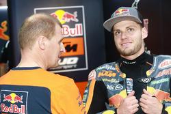 Aki Ajo, Ajo Motorsport Team Principal with Brad Binder, Red Bull KTM Ajo