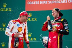 Podium: second place Fabian Coulthard, Team Penske Ford, third place Chaz Mostert, Rod Nash Racing Ford