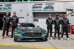 Foto de equipo #3 Black Falcon Mercedes AMG GT3: Abdulaziz Al Faisal, Hubert Haupt, Yelmer Buurman,
