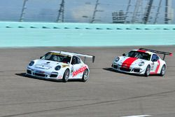 #88 MP2A Porsche GT Cup driven by Carlos Crespo & Beto Monteiro of BRT, #64 MP1B Porsche GT3 Cup dri