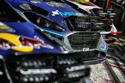 Laser-Scheinwerfer am Auto von Ott Tänak, Martin Järveoja, Ford Fiesta WRC, M-Sport